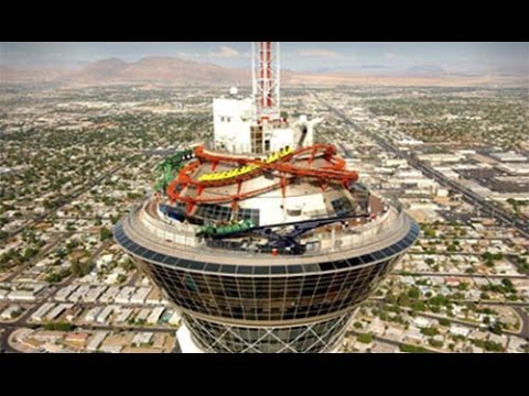 HD Stratosphere 360 Timelapse From TOP OF THE WORLD RESTAURANT  Club 107
