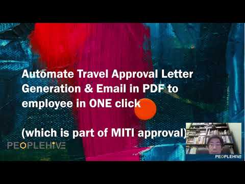 1-2-3 Steps to Automate Travel Approval Letter Generation & Email in PDF to Employee in ONE click