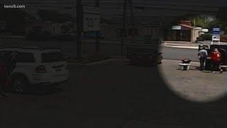 Thief caught on camera stealing Jeep at car wash