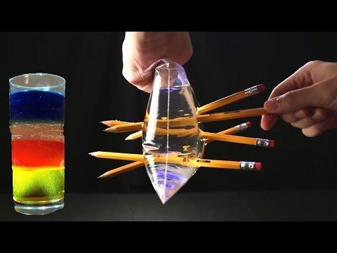 5 spektakulære eksperiment udført under anvendelse af vand