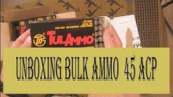 Unboxing Bulk Ammo 45ACP, Opening, Description and Bans