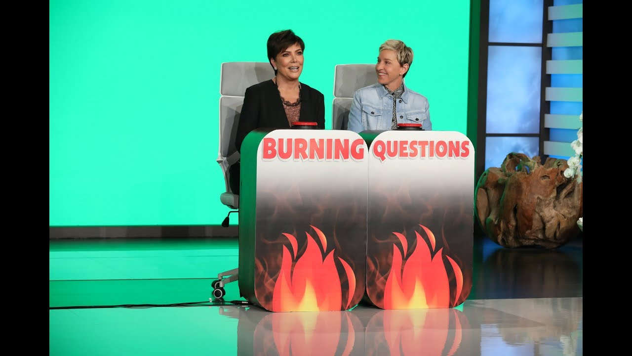 Kris Jenner Answers 'Ellen's Burning Questions'