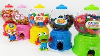 캔디 머신 M&M 초콜릿 자판기 뽀로로 장난감 놀이 Candy Dispenser vending machine Pororo toys