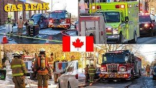 Montréal | Montréal Fire Service (SIM) Operating at 1st Alarm Gas Leak on Coolbrook Avenue