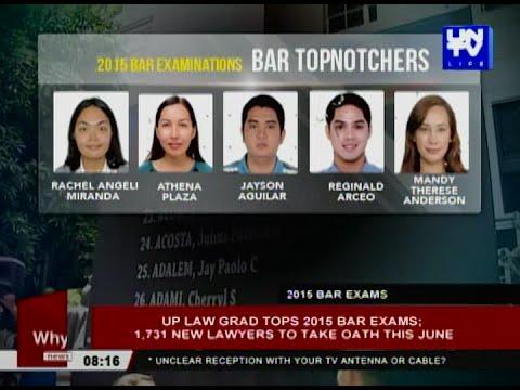 UP Law grad tops 2015 Bar Exams