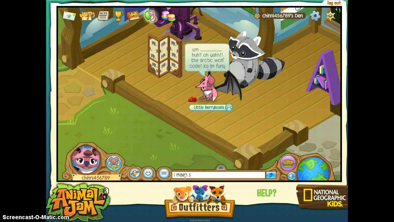 Image of: Ajpw Youtube Animal Jam Arctic Wolf Code Youtube
