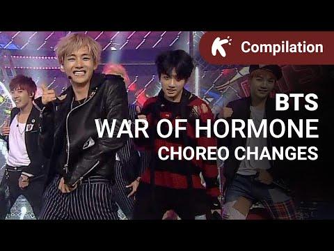 BTS - War of Hormone choreo changes & butt smacks