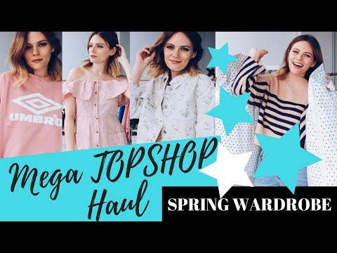 HUGE TOPSHOP HAUL & Try On - Spring Wardrobe || COCOA CHELSEA
