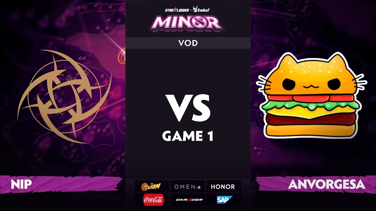 [RU] Ninjas in Pyjamas vs Anvorgesa, Game 1, StarLadder ImbaTV Dota 2 Minor S2 Playoffs