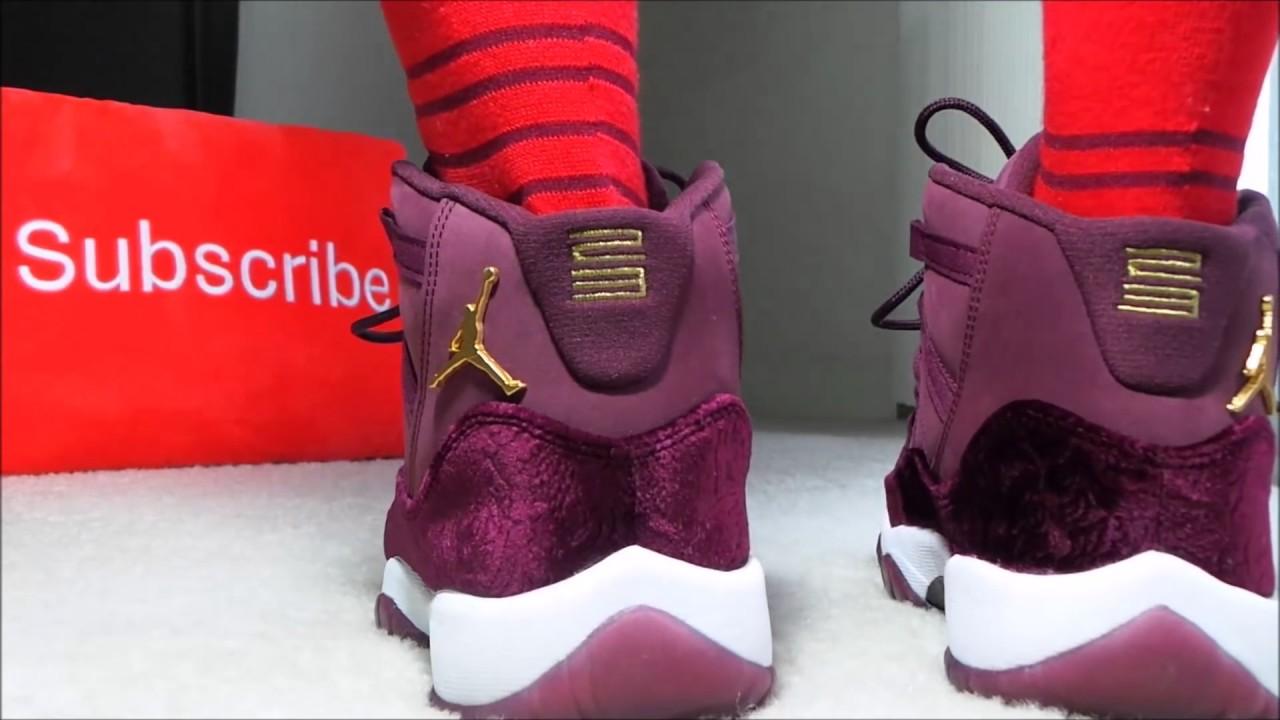 c993e3a78424b9 Air Jordan 11 Heiress Review On Feet - YouTube