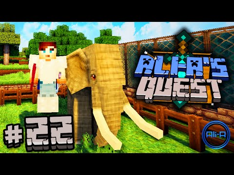 "Minecraft Mods - Ali-A's Quest #22 - ""ELEPHANT TAMING!"""