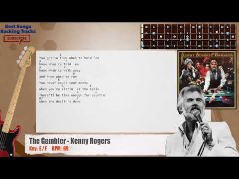 Best Songs Backing Tracks BSBT: The Gambler - Kenny Rogers Bass ...