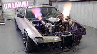 Twin Turbo J Swapped S14 Roars To Life!