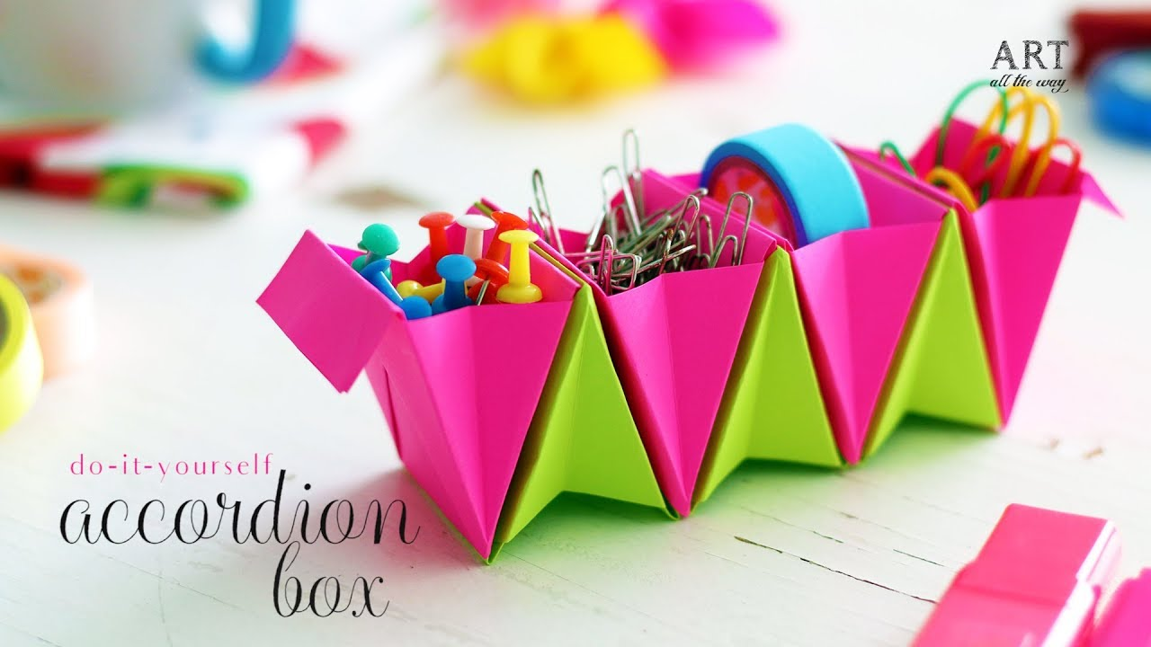 Accordion box paper folding do it yourself youtube accordion box paper folding do it yourself ventuno art solutioingenieria Choice Image