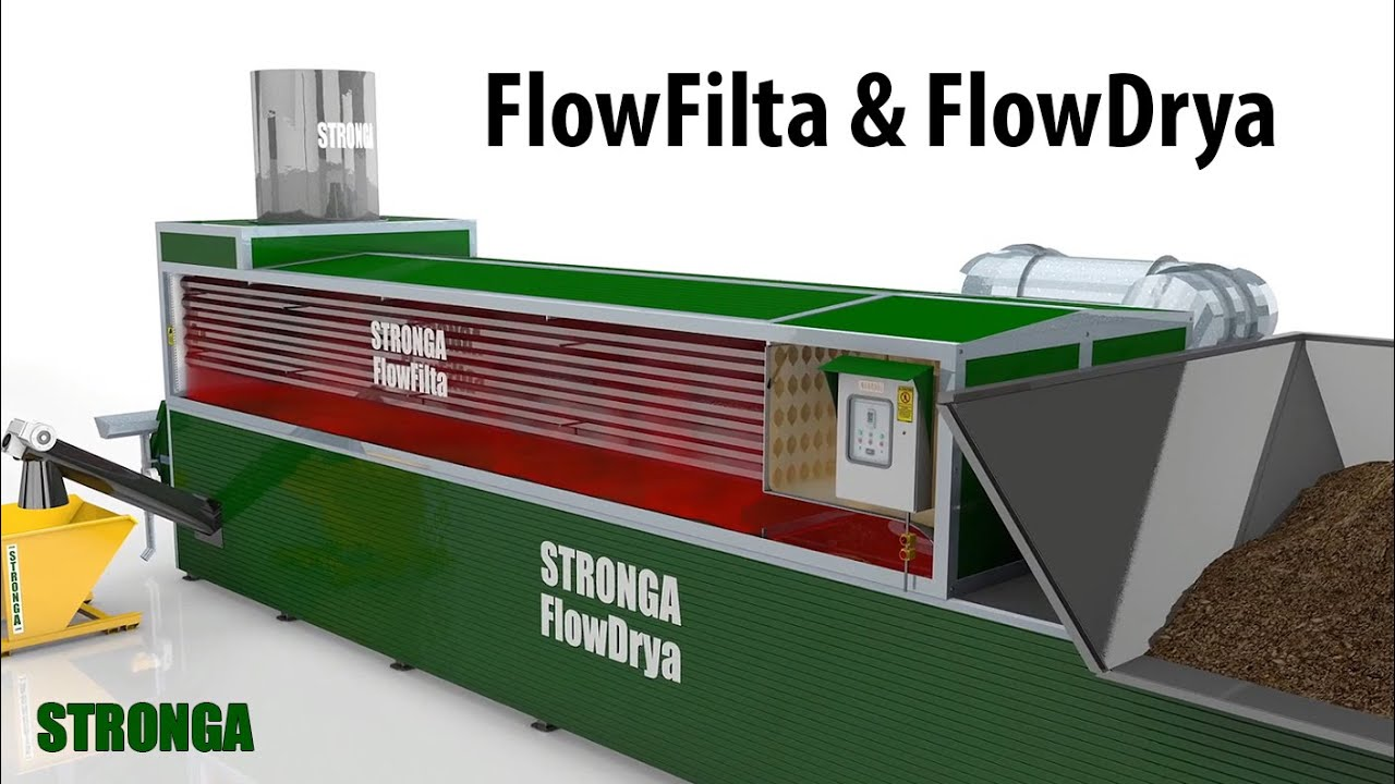 Stronga FlowFilta | FlowDrya exhaust air dust & odour control with  integrated heat exchanger