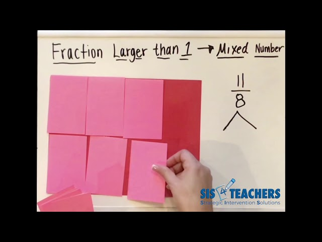 Fractions Larger than One - Converting to Mixed Numbers