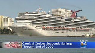 Carnival Cruises Suspends Sailings Through End Of 2020