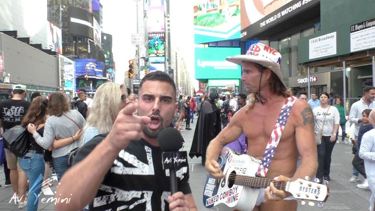 The EPIC naked cowboy Trump song