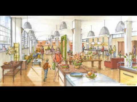 perspectief tekenen interieurs of gebouwen, tekencursus - YouTube