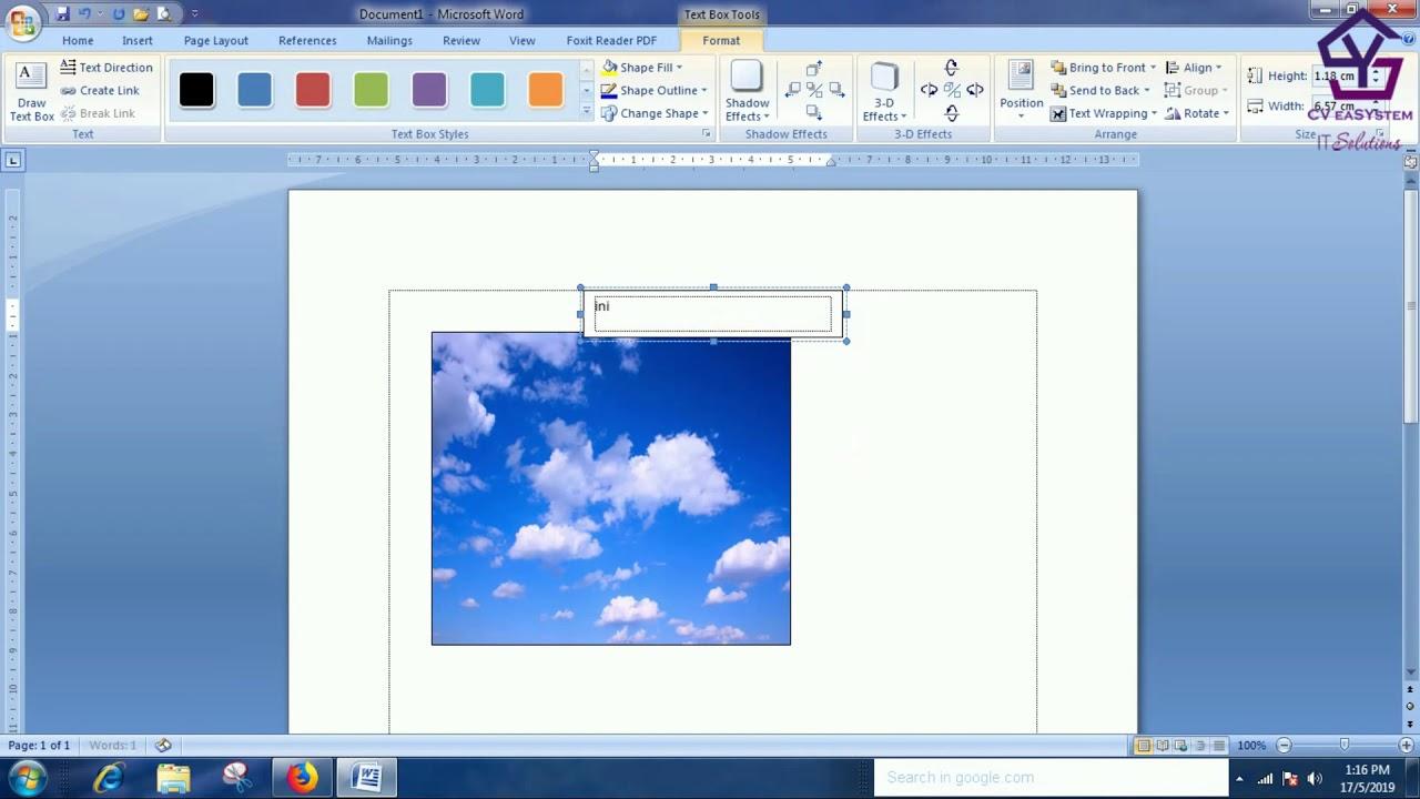 Cara Memberikan Teks Pada Gambar di MS WORD - YouTube