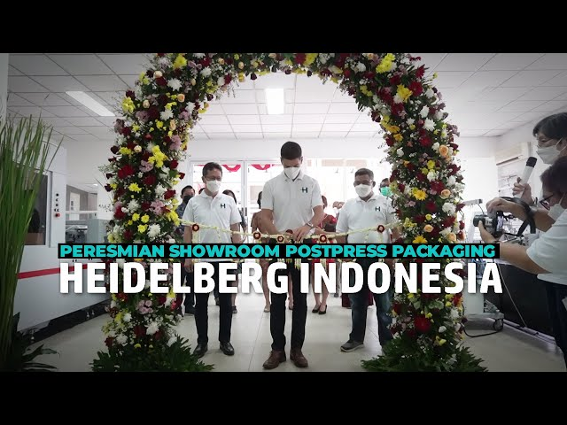 Launching Showroom Postpress Packaging Heidelberg Indonesia
