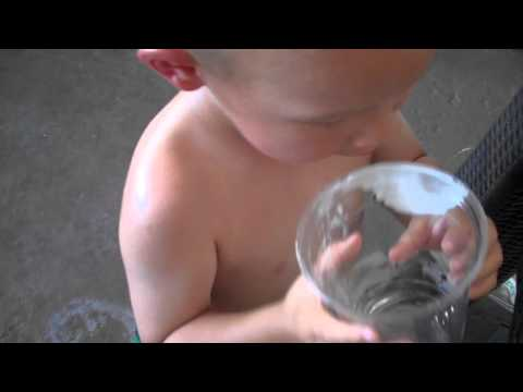 Out By The Pool David Pours His Apple Juice Into My Beer