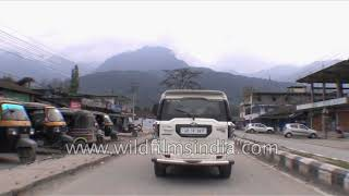 Drive through the market of Yinkiong town in Arunachal Pradesh