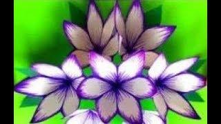 ЦВЕТЫ ИЗ ЦВЕТНАЯ БУМАГА СВОИМИ РУКАМИ.Как сделать цветы легко?Поделка День Матери,8Марта