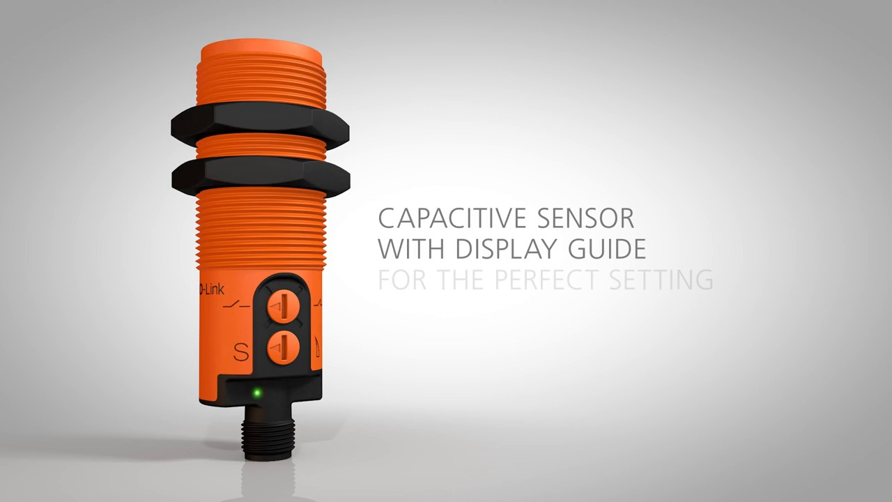 Capacitive sensor with display guide for the perfect setting on