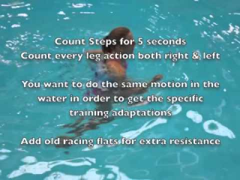 Pool Running Technique And Aqua Jogging Workouts Youtube