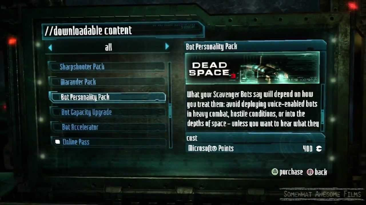 dead space 3 downloadable content free