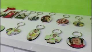 Subli-Mate® plastic and MDF  keychain heat transfer printing customized tutorials