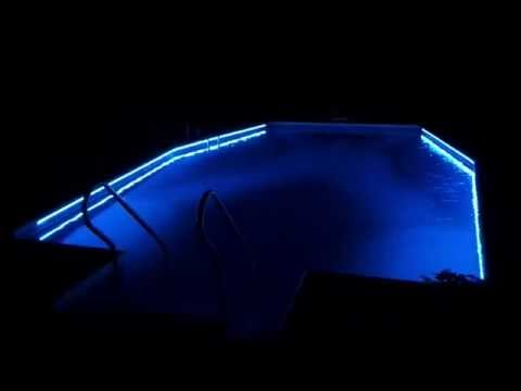String Lights Around The Pool : New led pool lights - YouTube
