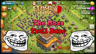 Clash of Clans| TH8 THE MAZE Troll Base (2 Versions)