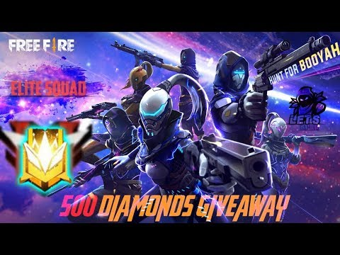 free fire live-500 diamonds giveaway-elite squad is here