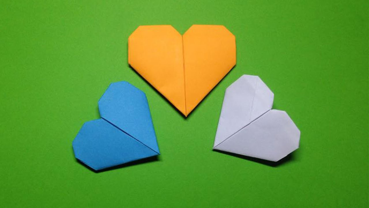 how to make a paper heart easy