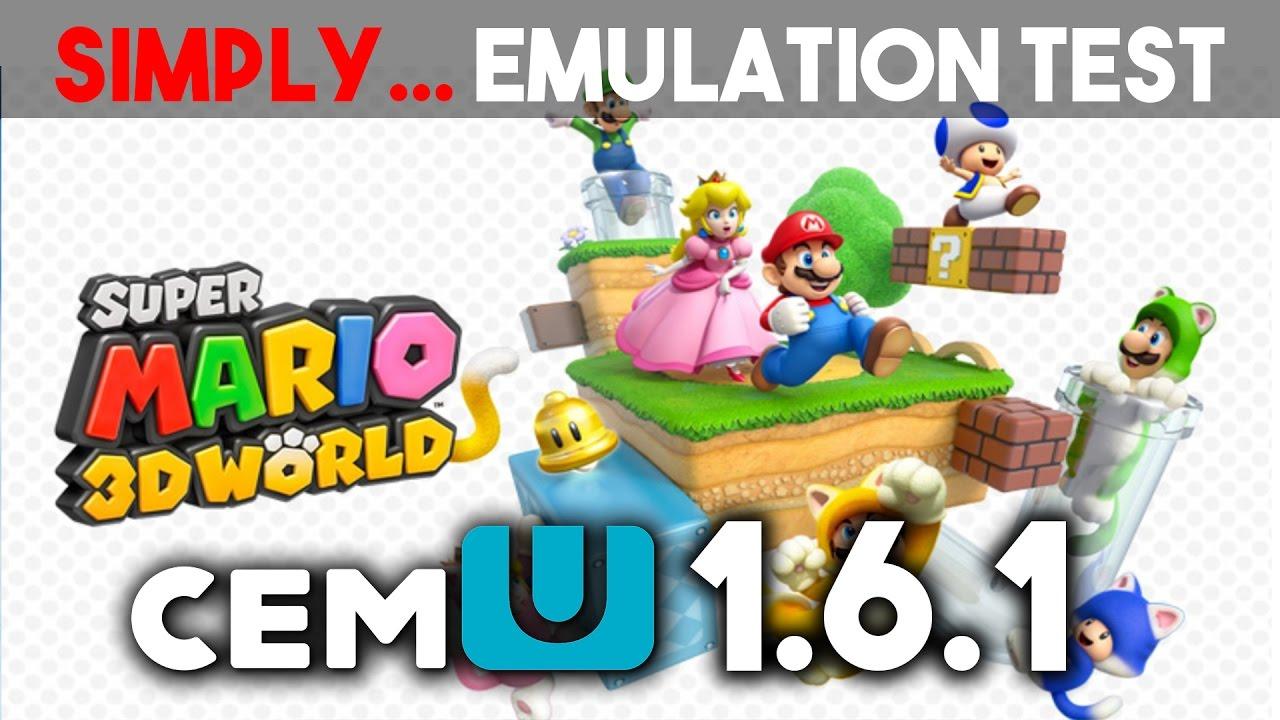 SUPER MARIO 3D WORLD - Wii U 1080p [Cemu 1 6 1 Test]