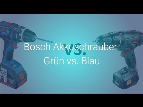 bosch akkuschrauber gr n vs blau youtube. Black Bedroom Furniture Sets. Home Design Ideas