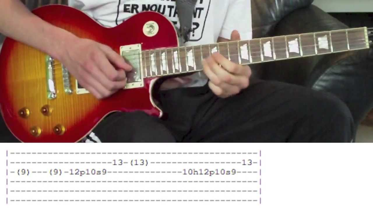 Guns Nroses November Rain Guitar Solo Lesson With Tabs Youtube
