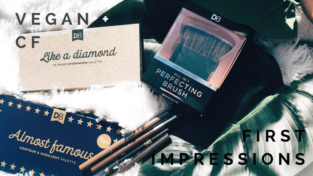 designer brands cosmetics first impressions full face of db products vegan cruelty free - Db Designer Brands