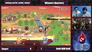 Fire&Dice Monthly #2 - SlayerZ (Peach) vs Brult GSM VoiD (Sheik) - Smash Wii U
