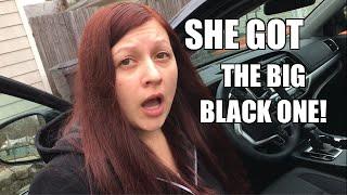HEEL WIFE GOT THE BIG BLACK ONE!