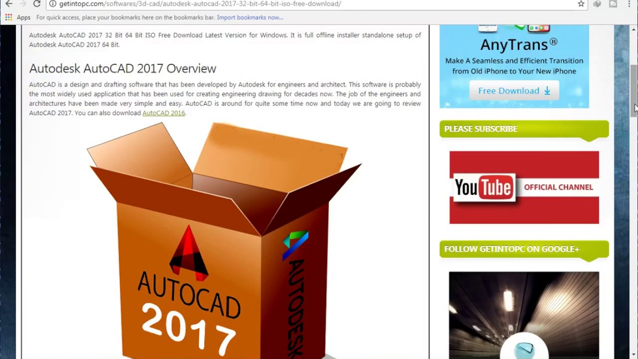 autocad 2017 full download