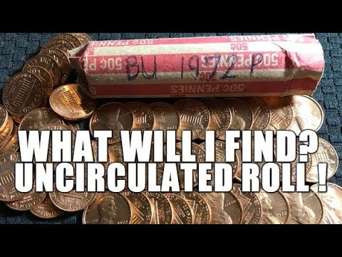 Searching A Full Roll Of Uncirculated 1972 Lincoln Cents For Varieties & Errors