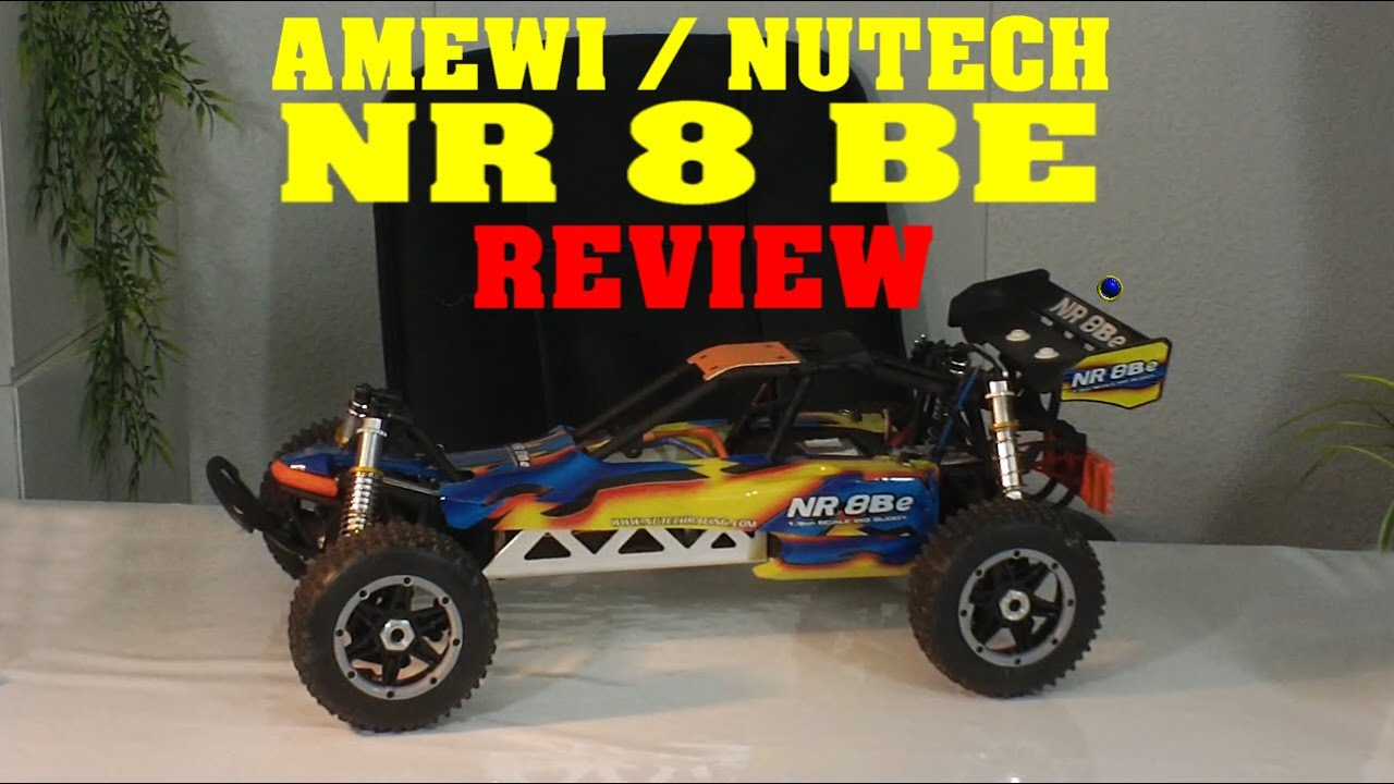 Amewi / Nutech NR8BE - REVIEW TEST TESTBERICHT - 1:8 brushless RC ...