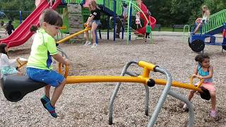 Fun Outdoor Playground Park For Kids ! Family Playtime