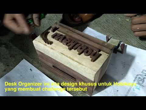 Manjila Art - How To DIY Wood Desk Organizer