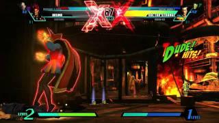 ultimate marvel vs capcom 3 nemesis vs dr strange gameplay gamescom 2011