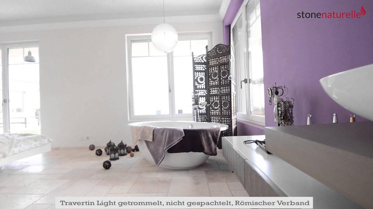 Ideen für Fliesen in Bad und Küche: der mediterrane Travertin Light ...