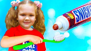 Pretend Play Morning Routine Brush Teeth by Kids Liza